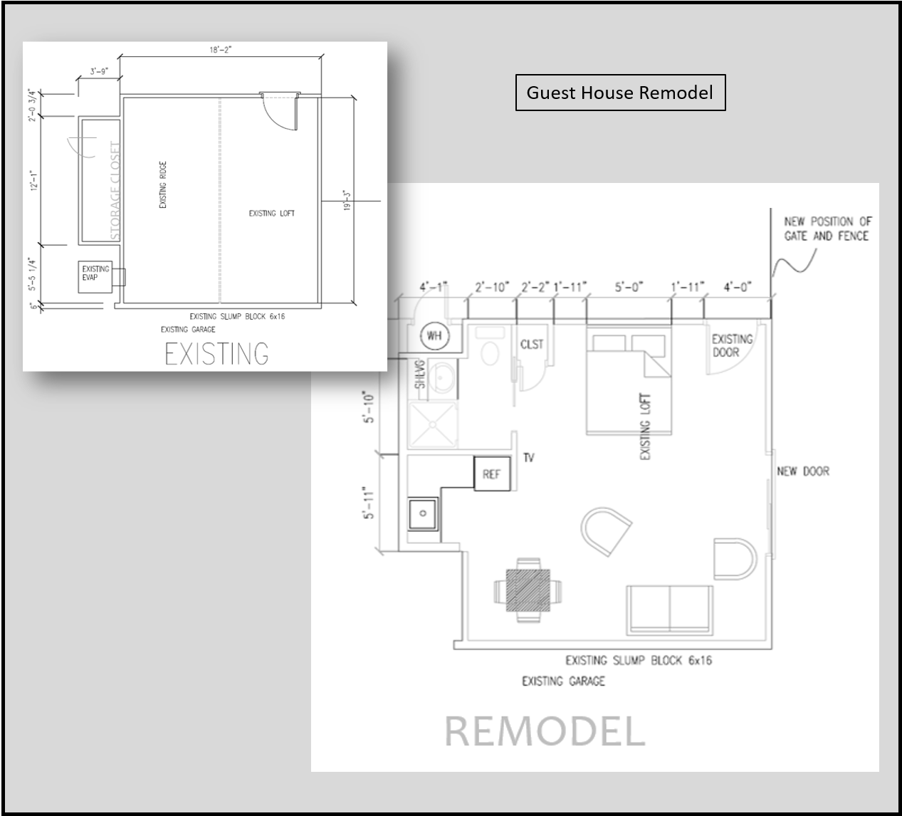 guest house remodel drafting construction plans drawing the designers eye shawn barghout