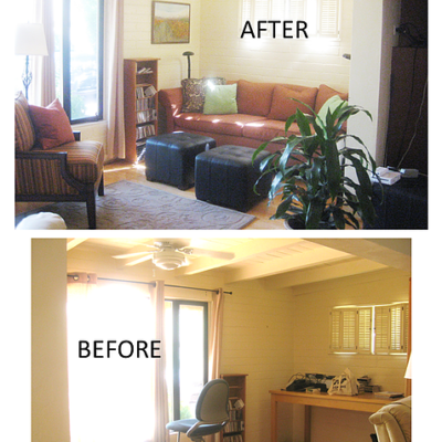 Interior Design Makeover from clutter to library_the designers eye shawn barghout tucson