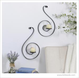 candle holder 3d wall art kirkland home_interior design tucson